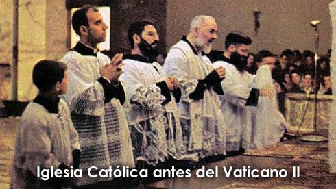 Iglesia Catolica antes del Vaticano II