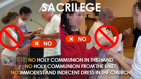 No Holy Communion in hand