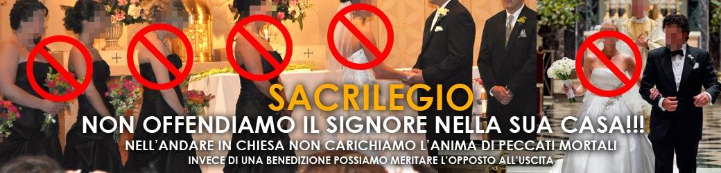 Evita il sacrilegio in chiesa