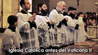 Iglesia católica antes del Vaticano II