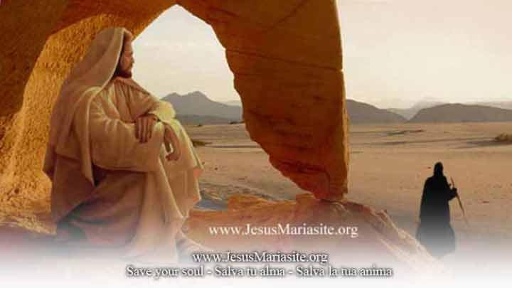 Gesù tentato nel deserto dal diavolo