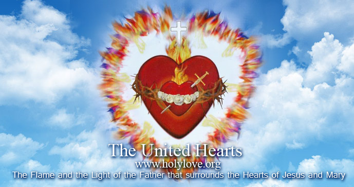 The Flames and the Light of The Fatherthat surrounds the Hearts of Jesus and Mary