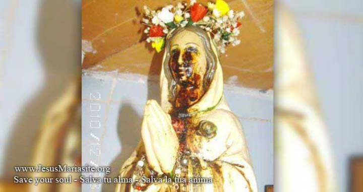 Tears of Blood from The Statue of the Virgin Mary (Paraguay)