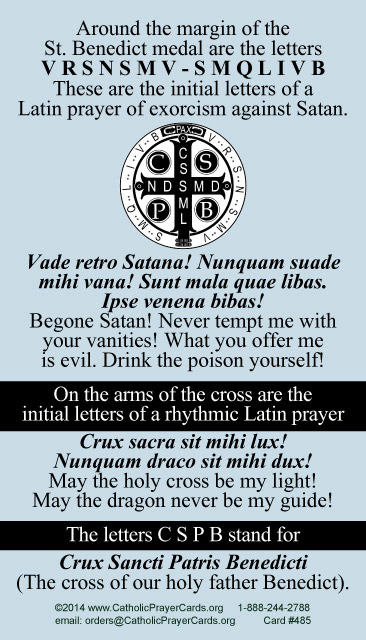Prayer Exorcism of Saint Benedict