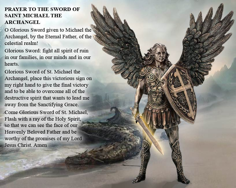 Prayer to the Sword of Saint Michael the Archangel