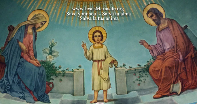Joseph, Jesus and Mary, Holy Family of Nazareth