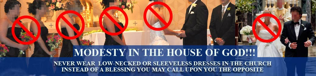 Avoid Sacrileges the Day of your Wedding