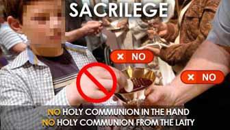¡No más ministros extraordinarios de la eucaristía, ni más comuniones en la mano!