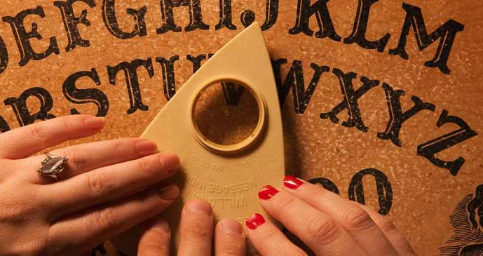 Ouija Board game. Stay away from any type of occultism