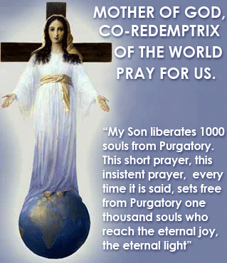 Mother of God Co-Redemptrix of the World pray for us